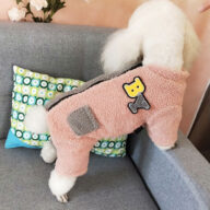 Wool Teddy Fabric Four-legged Pet Clothes Winter Coat for Small and Medium 06-1596
